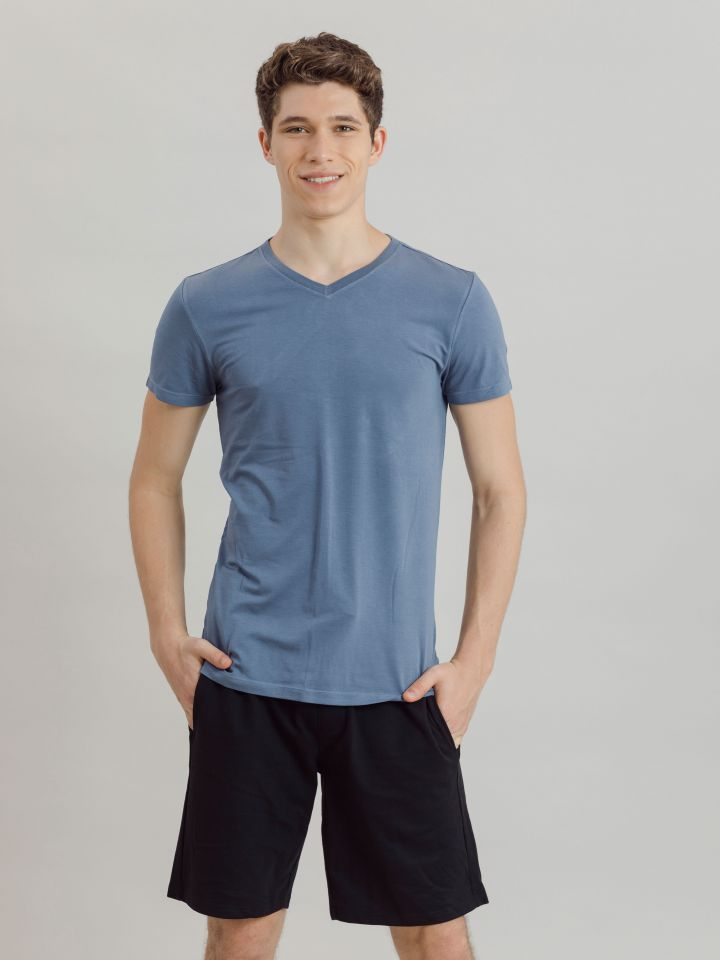 חולצה קצרה V BAMBOO