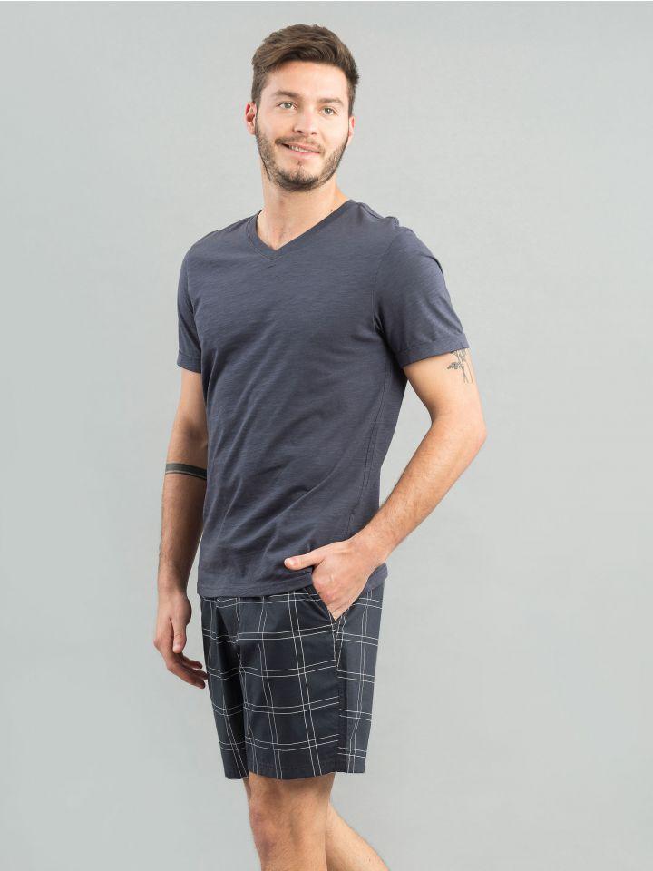חולצת קצרה V NECK
