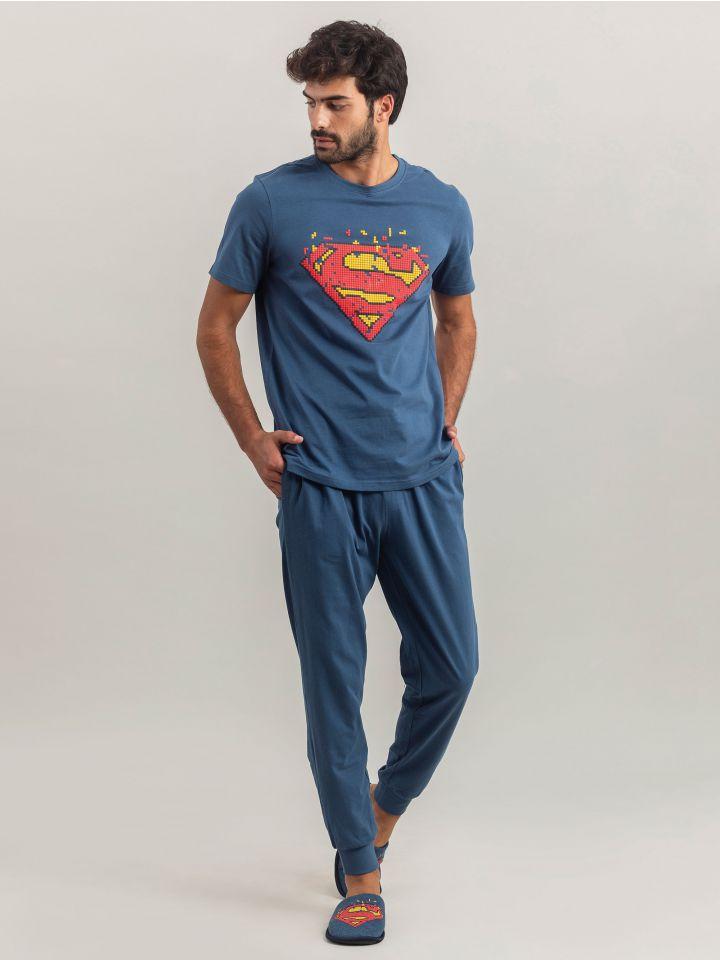 סט לגבר SUPERMAN PIXEL ART