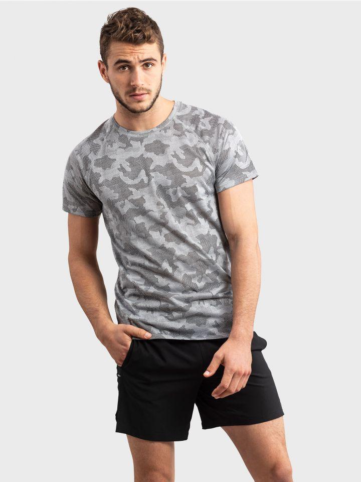 חולצת טי ספורטיבית CAMOUFLAGE MOVE