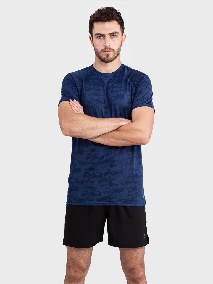 חולצת ספורט קצרה CAMO PRINT