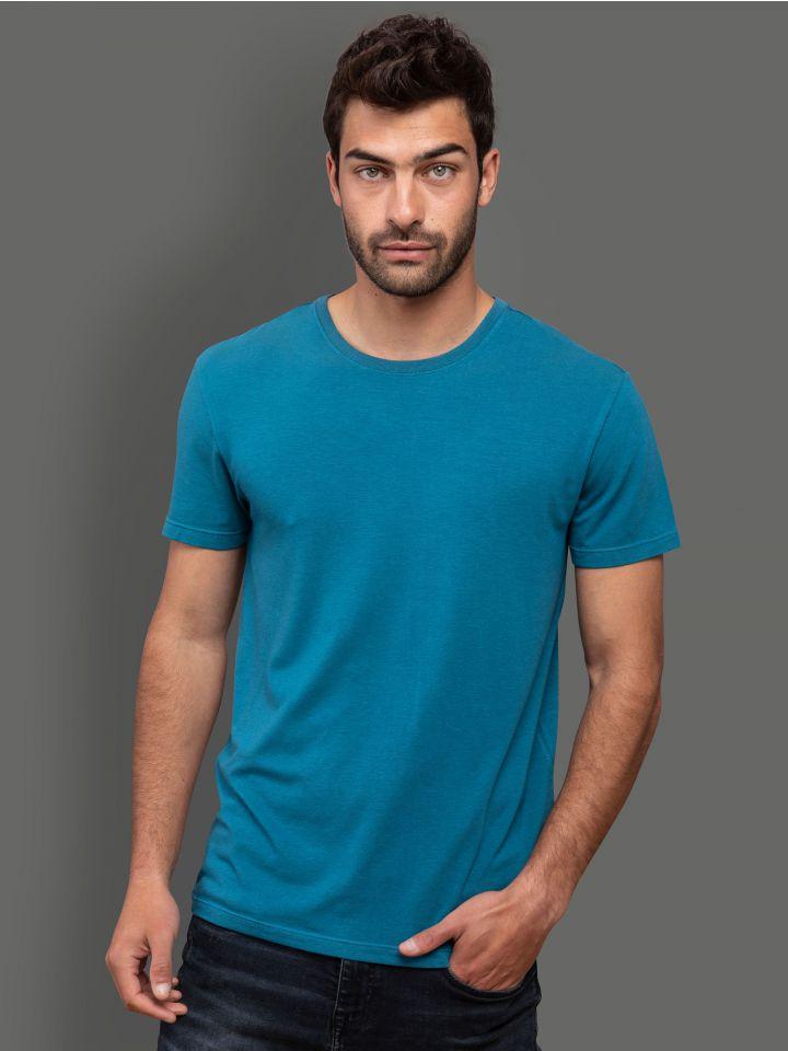 חולצה קצרה BAMBOO BLUE