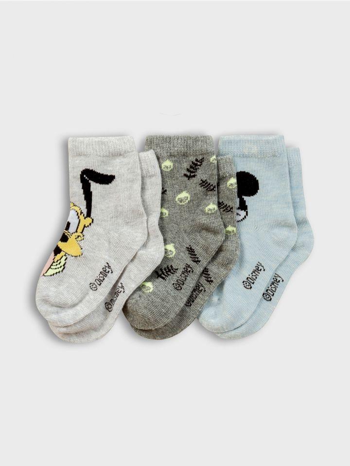 3 גרביים במארז MICKEY & PLUTO