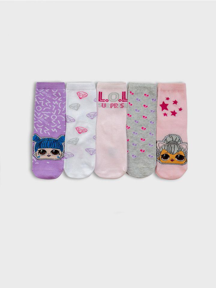 5 גרביים במארז HELLO KITTY PACK