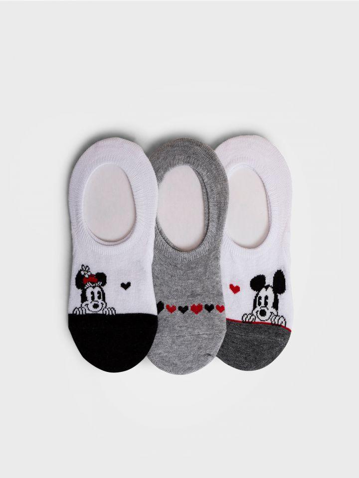 3 גרביים עקביות במארז MICKEY HEARTS