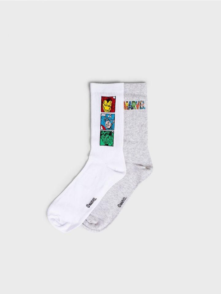2 זוגות גרביים במארז MARVEL PACK