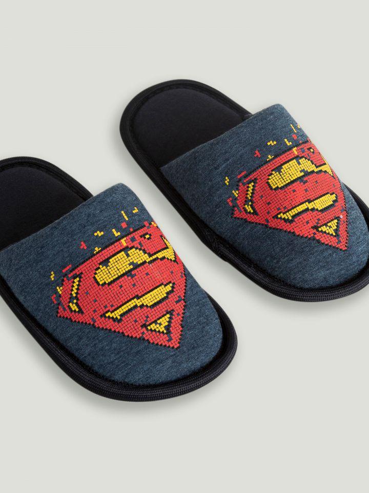 נעלי בית לילד SUPERMAN PIXEL ART