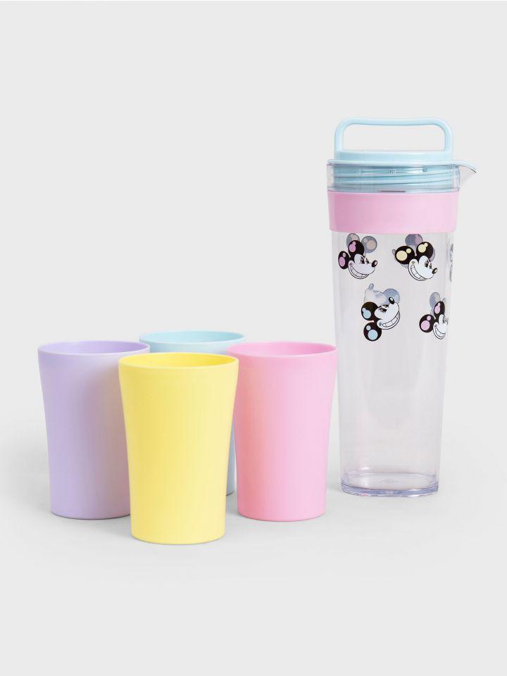 קנקן מים עם 4 כוסות