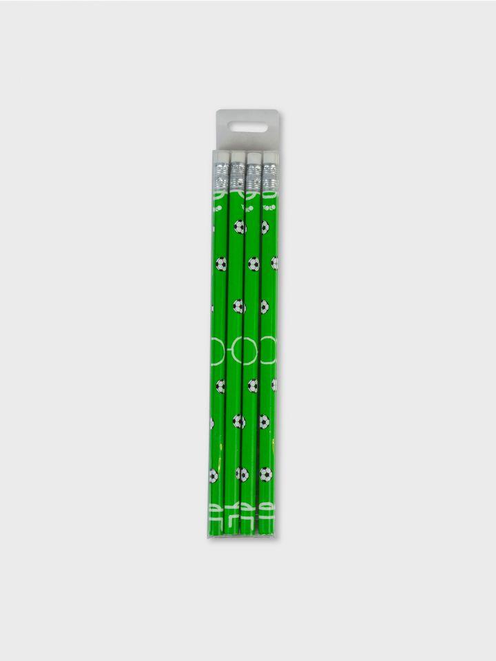 מארז 4 עפרונות SOCCER FIELD