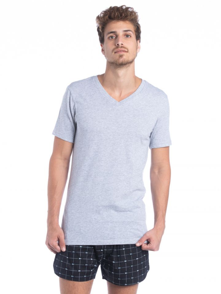 מארז שתי חולצות V שרוולים קצרים של המותג LACOSTE