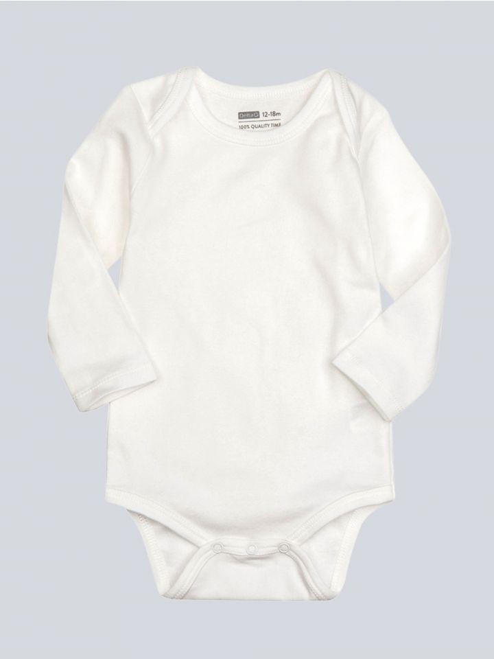 מארז שלשה בגדי גוף שרוולים ארוכים לתינוקות