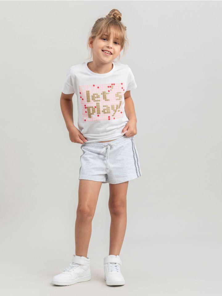 מכנסיים קצרים GRAY GLITTER