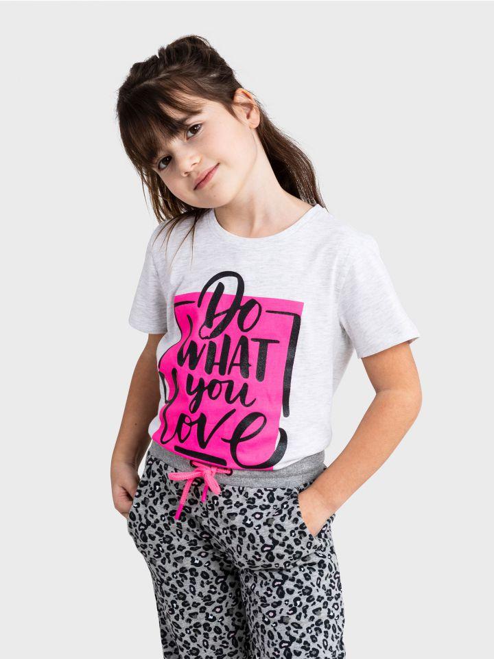 חולצה קצרה LOVE PRINT