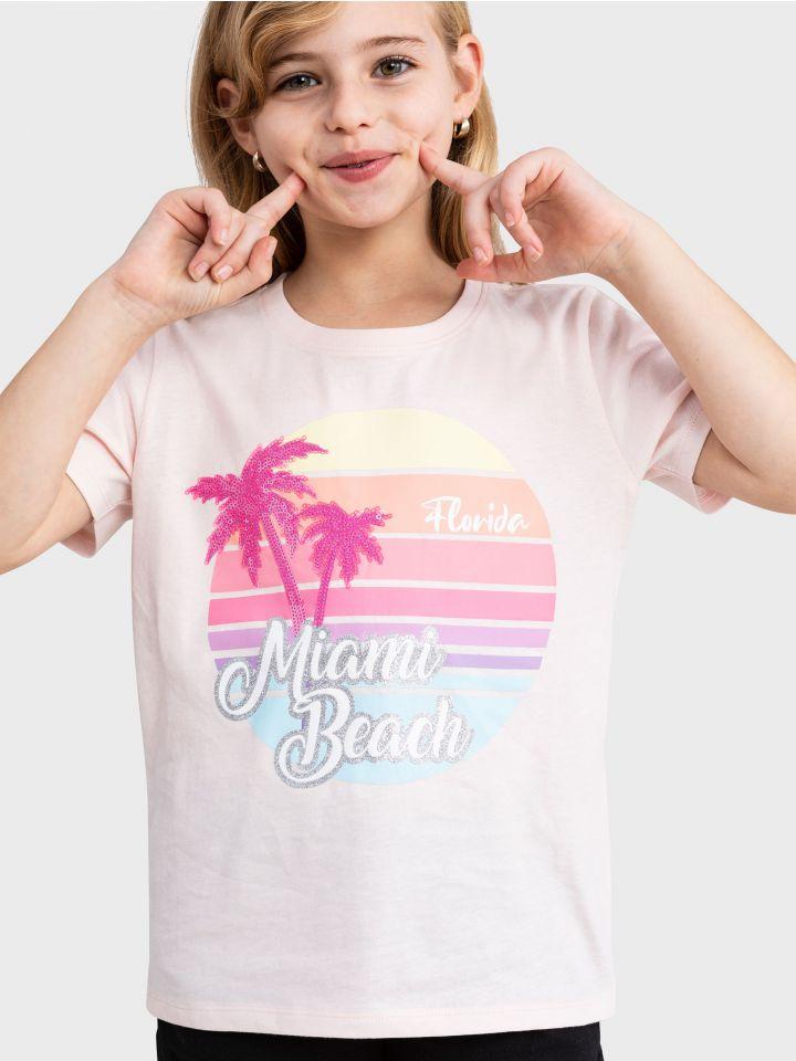 חולצה קצרה MIAMI BEACH