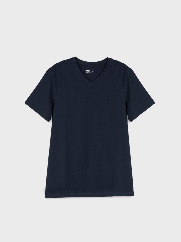חולצה קצרה צווארון וי BASIC MUST לגברים