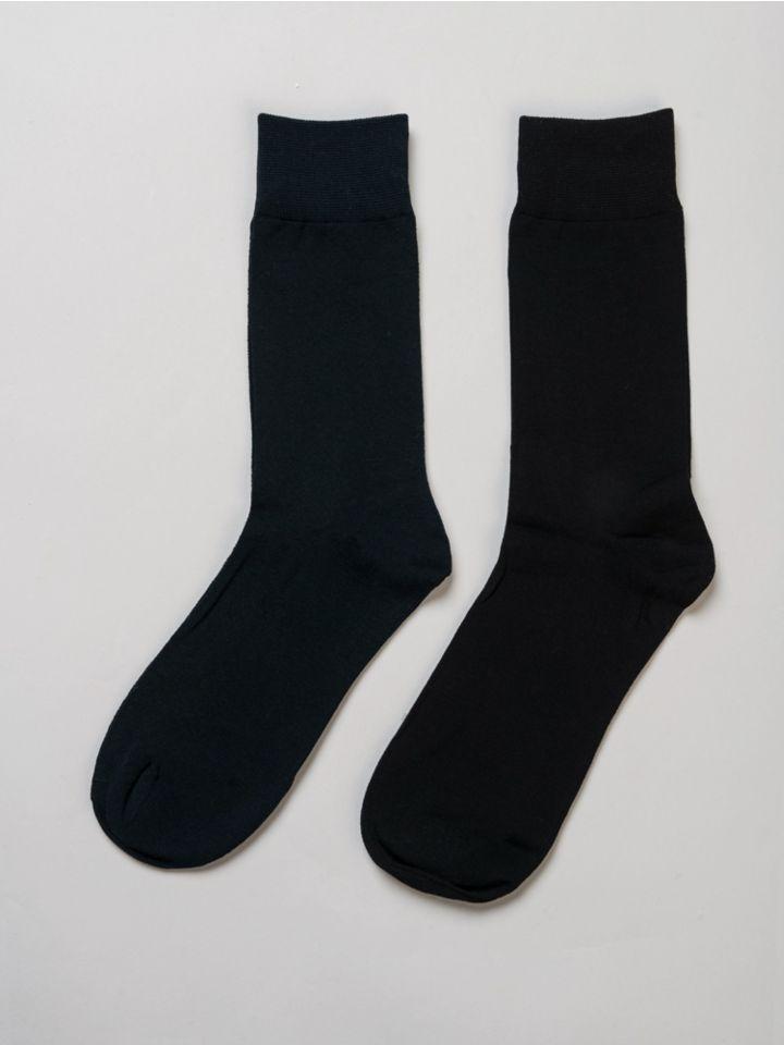 2 זוגות גרביים אורך רגיל לא תפר,PIERRE CARDIN