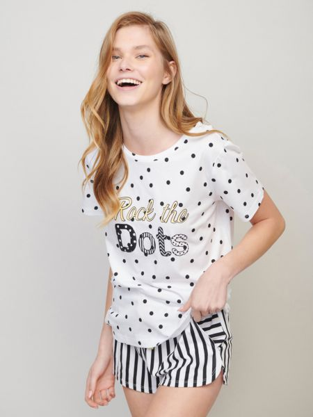 סט פיג'מה DOTS & STRIPES