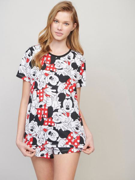 סט פיג'מה MICKEY&MINNIE DOTS