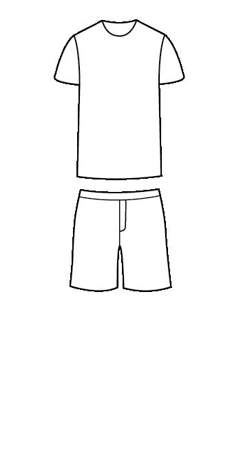 סט פיג'מה חולצה קצרה מכנסיים קצרים